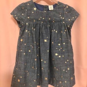 BabyGap Starry Chambray Dress - 18-24 mos